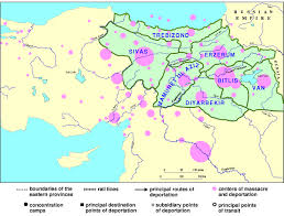 Location Of The Ottoman Empire map of the 1915 armenian genocide in the turkish empire