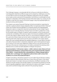 8 conclusions and recommendations adapting to the impacts of