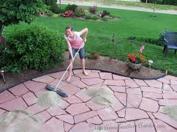 video and instructions to install a flagstone patio this is what