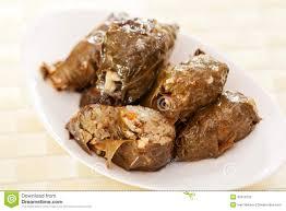 cuisine bulgare cuisine bulgare feuilles de raisin bourré photo stock image du