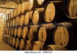 Wine Cellars Porto - barrels of port wine maturing in the croft cellars in porto