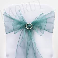 Chair Bows For Weddings Online Shop 100pcs Hunter Green 7