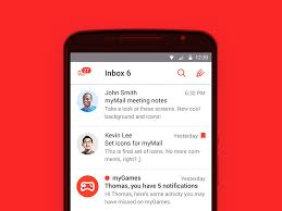 my at t app for android sidebar experiment in mymail for android material design