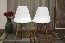 baxton studio lac plastic side chair set of 2 amazon ca home