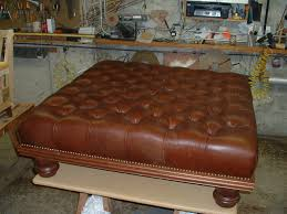 Leather Ottoman Tufted And Vintage Brown Squre Tufted Leather Ottoman Coffe Table