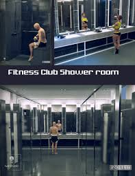 Shower Room Fitness Club Shower Room 3d Models And 3d Software By Daz 3d