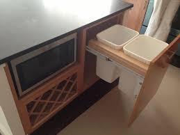 Kitchen Island Construction Modern Kitchen Design With Concealed Trash Bin In The Kitchen