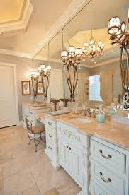Bathroom Vanity With Seating Area by Small Windows Above Vanity Cabinet Drawer Storage Sconces