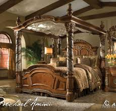 Michael Amini Wiki Best Bedroom Furniture Bedroom Distressed Wooden Canopy Bed With