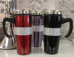 durable thermal coffee mugs plastic and stainless steel material