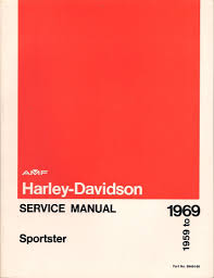 harley davidson service manual sportster 1959 to 1969 part no