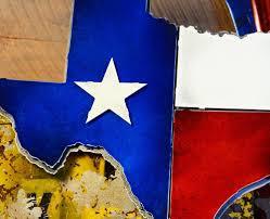 Texas State Flag Texas State Emblem Hex Head Art
