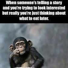 Chimp Meme - robs random stuff i do this meme food story dinner me