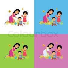 easter plays for children happy easter family set design easter egg and childhood