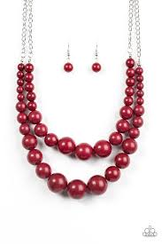 red fashion necklace images Paparazzi accessories full bead ahead red jpg