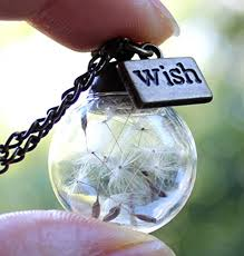 handmade real dandelion wish necklace make a wish real