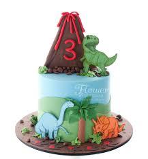 volcano u0026 dinosaur birthday cake flower u0026 fondant