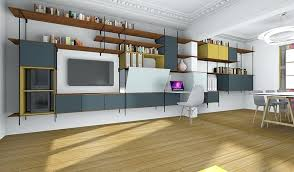 bureau dans salon bureau dans salon changer cracer des rangements et un bureau dans un