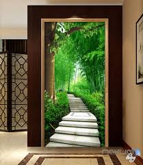 3d forest lane tree corridor entrance wall mural decals art print 3d forest lane tree corridor entrance wall mural decals art print wallpaper 040
