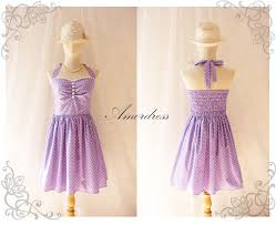 purple party dress vintage inspired party tea dress bridesmaid