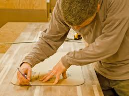 do it yourself butcher block kitchen countertop hgtv cut a hole for the sink