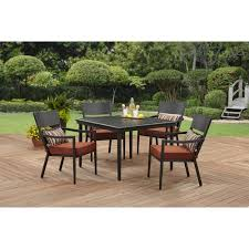 Patio Dining Sets Walmart Better Homes And Gardens Amsterdam 5 Cushion Dining Set
