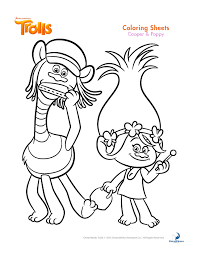 trolls coloring sheets and printable activity sheets activities