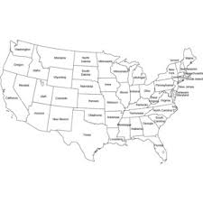 united states map black and white contiguous united states black and white outline map polyvore