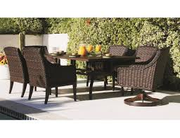 Wicker Patio Dining Sets Patio Renaissance Catalina 7 Pc Wicker Dining Set