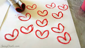 diy heart stamp using toilet paper rolls kids valentines craft