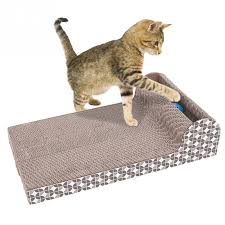sofa material for cats funny pet toy square cat scratch board cat scratching with bells and