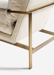 milo armchair brushed bronze room
