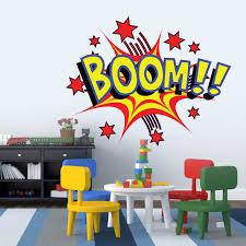Home Design Books Amazon Large Cartoon Boom Comic Book Kids Vinyl Girls Room Boys Room Baby