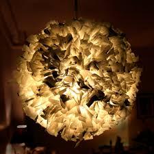 Paper Hanging Lamp Furniture Accessories Cool Paper Scrap Pendant Lighting Desing