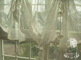 Balloon Curtains For Kitchen by French Country Embroidered Balloon Shade Sheer Voile Cafe Kitchen