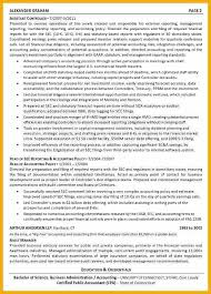 Accounting Controller Resume Cfo Resume Lukex Co