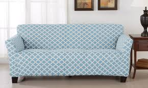 Sofa And Loveseat Slipcovers by How To Put A Slipcover On A Sofa Overstock Com
