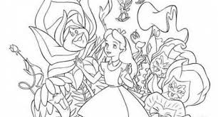 alice wonderland coloring pages mad hatter archives cool