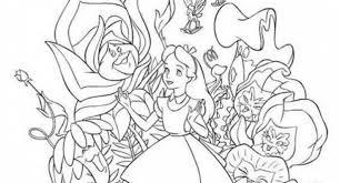 alice wonderland coloring pages tim burton archives cool