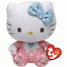ty beanie babies hello kitty pink baby with rattle plush i want
