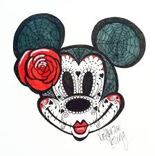 minnie mouse sugar skull los muertos sugar