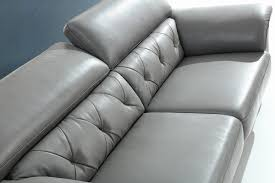 divani casa perry modern grey leather sofa set clearance specials