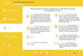left side yellow menu bar course starter template u2014 articulate