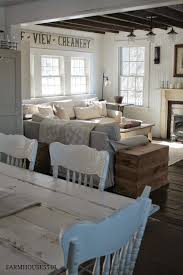 Black Amp White Modern Country by Farmhouse 5540 Love The Painted Chairs Home Decor Pinterest
