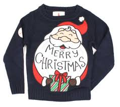 kids funny christmas sweater santa navy u2013 ugly christmas