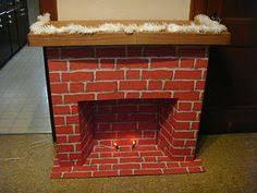 vintage cardboard fireplace cardboard