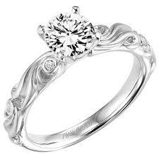 carved engagement rings artcarved bridal engagement rings ben garelick jewelers