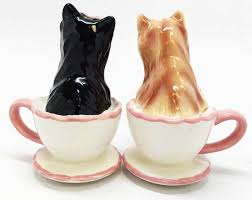 Cute Salt And Pepper Shakers by Yorkshire Terriers Cute Teacup Yorkie Puppy Love Ceramic Salt