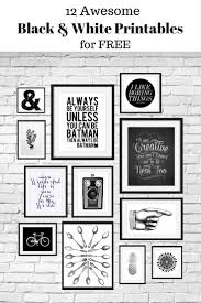 White Wall by 12 Free Black And White Printables Great For Using In Your Gallery