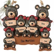 family 6 names personalized ornament gifts